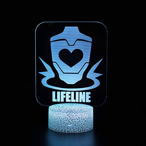 3DShaped Optical Illusion Led Lamp Night Light, USB Powered 7 colores Intermitente Touch...