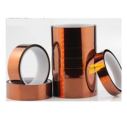 Hochtemperaturklebeband, hochtemperaturbeständiges Klebeband, PI Polyimidband, braunes Isolierband-70 mm breit × 33 m