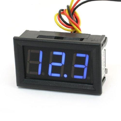 DealMux DC 0-100V 7 segmentos pantalla LED azul voltímetro voltios Tester Digital