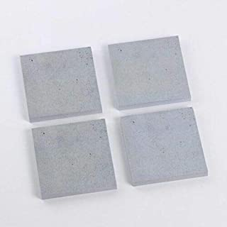 FidgetFidget 1PC Creative Stone Memo Pad Self-Adhesive Sticky Notes Funny Office Stationery Gray