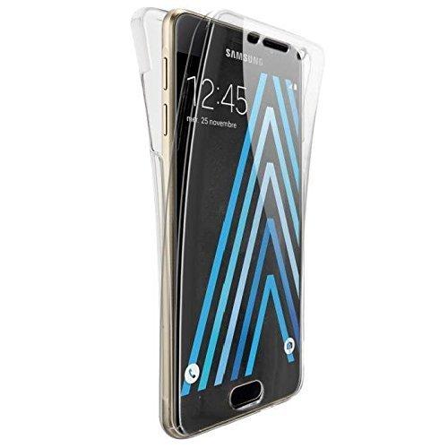 COPHONE® Funda Samsung Galaxy A3 2016, Transparente Silicona 360°Full Body Fundas para Samsung Galaxy A3 2016 A310 Carcasa Silicona Funda Case.
