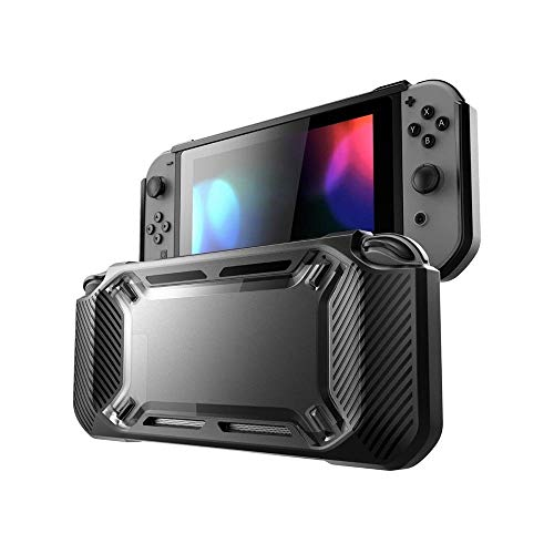 LONK Funda para Nintendo Switch Consola Joy-Con, Nintendo Switch Case de TPU PC Antichoque Anticaída,…