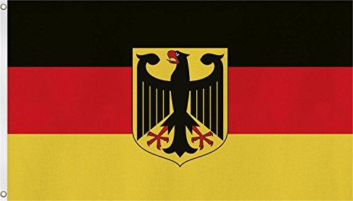 normani Fahne mit Messingösen 90 x 150, 150 x 250 oder 300 x 500 cm wählbar Farbe Deutschland mit Adler Größe 90 x 150