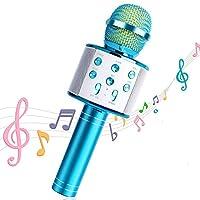 マイクロホンワイヤレスカラオケスピーカーポータブルBluetoothのホームKTVいつでもスマートフォンを再生する録音屋外パーティーMuiscを歌います (Color : A)