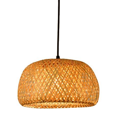Andifany Moderno Trabajo de Bambú Tejido una Mano de Bambú Tejer Ara?a Restaurante Hecho una Mano de Bambú Linterna Ara?a Hotel Decoración Lámpara para el Hogar