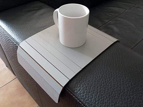 Holz sofa armlehnentisch in vielen farben wie stein grau Armlehnentablett Moderner tisch für couch Klein schleichendes sofatisch Armlehne flexibel tablett Falten couchtisch Kleine tische