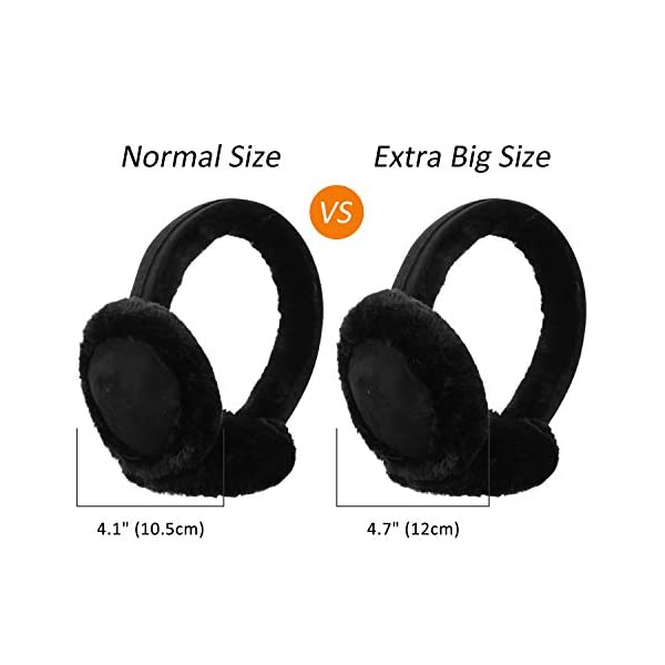 Unisex Faux Fur Ear Warmers/Earmuffs Winter Warm Classic Ear Muffs Outdoor Earwarmer for Men&Women
