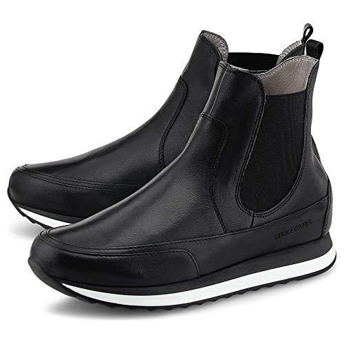 Candice Cooper Damen Chelsea-Boots Beatle Zip Schwarz Glattleder 38