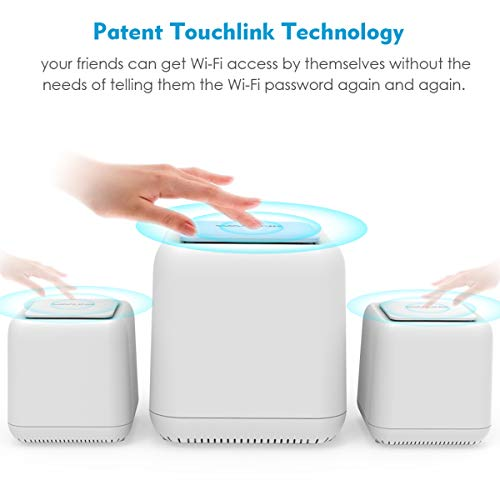 1 WiFi Router 2 Satellite Points Repeater Wi-Fi Extender WAVLINK Halo Base 3 Smart Wireless Whole Home Mesh WiFi System AC1200 Dual Band 2.4 5Ghz Insanely Fast /& Super Coverage 4500.sq.ft
