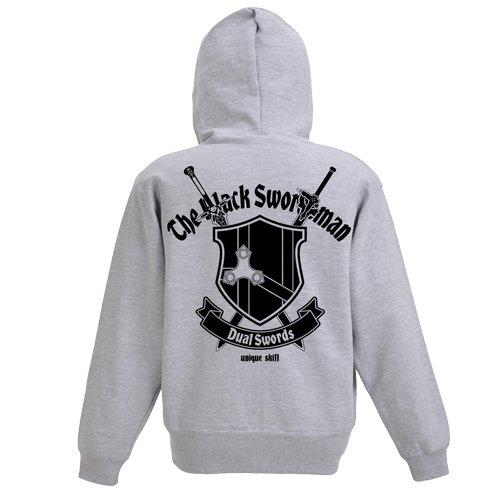 ソードアート・オンライン 黒の剣士 ジップパーカー ミックスグレー ブラック Mサイズ