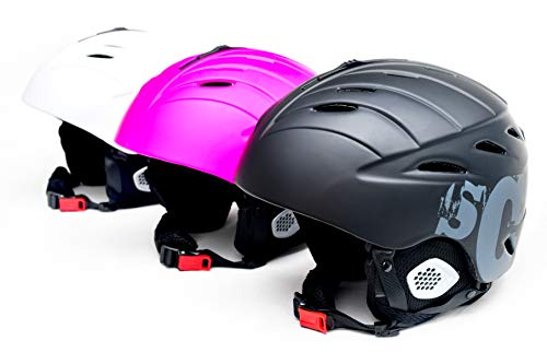 Skullcap® Skihelm Snowboardhelm für Herren Damen Jungs & Mädchen (Schwarz, M)