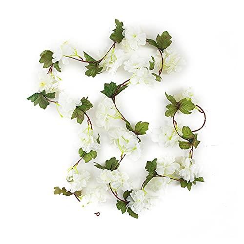 Delisouls Guirnalda de luces de hojas verdes, luces de hada de vid blanca, 2,2 m, 25 luces de flores artificiales, decoración de atmósferas, luces perfectas para bodas, fiestas, dormitorios