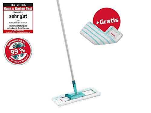 Leifheit Bodenwischer Profi XL inkl. gratis Wischbezug Micro Duo Wischsystem, türkis, One Size, 6