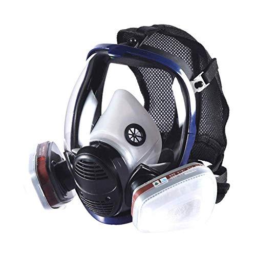 HOLULO Vollmaske Atemschutzmaske mit Luftfilterpatrone Vollgesichtsmaske für organische Dunst