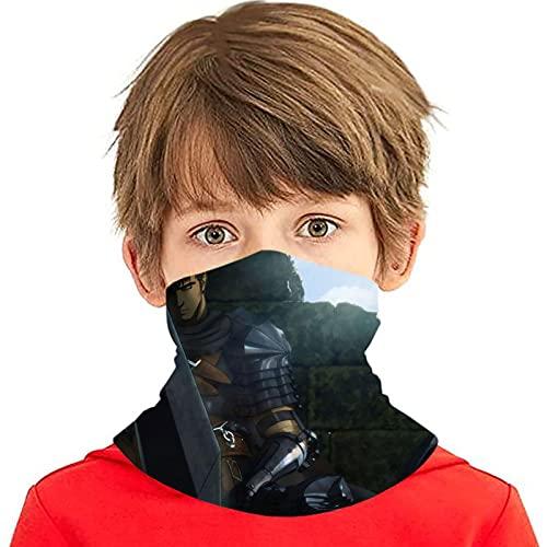 LAOLUCKY Berserk Guts - Polaina para cuello con 6 filtros de protección UV para la cara de seda de hielo, a prueba de viento, a prueba de polvo, para deportes al aire libre, uso diario