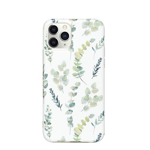 HolaStar Compatible with iPhone 12 Pro/12 Case, Retro Minimalist Tropical Green Fall Leaves Floral Design Slim Thin Anti Scratch Soft Silicone Excellent Grip Premium Protective Cell Phone Cover