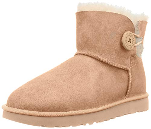 UGG 1016422 AMB Mini Bailey Button II Classic Boot Beige