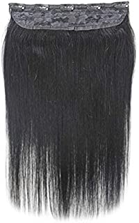 Clip in Remy Human Hair Extensions One Piece 5 clips 100% Remy Human Hair Straight Soft Extensions (18
