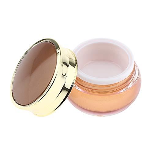 Homyl Pot Vide Rond en Acrylique avec Couvercle Cosmetic Container Rangement pour Crèmes Stockage Onguents Toner Baumes Bonbons Perles - 15g