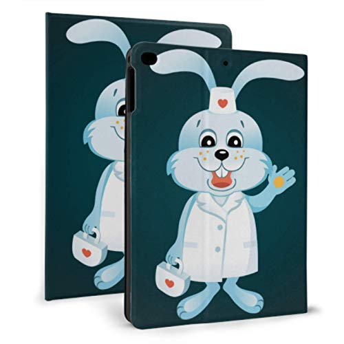 Ipad Back Cover Elegant Rabbit Bunny Animal Doctor Ipad Magnetic Case For Ipad Mini 4/mini 5/2018 6th/2017 5th/air/air 2 With Auto Wake/sleep Magnetic Air Ipad Cover