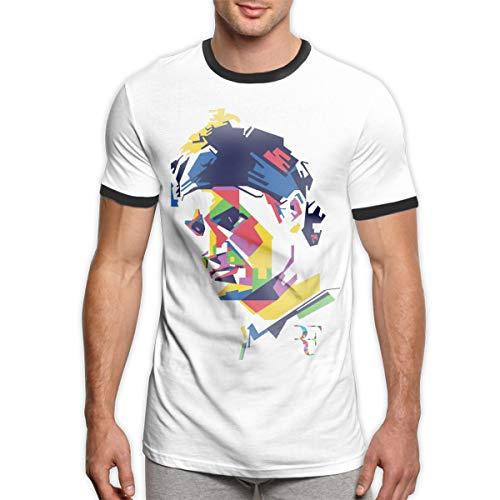 Camiseta Deportiva clásica de Manga Corta para Hombre Roger Federer Camisetas Contraste