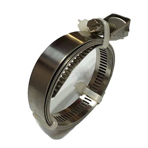 """40"""" Adjustable Stainless Steel Hose Clamp, Duct Clamp, Pipe Clamp, Air Ducting Clamp with Flex Worm Drive, Quick Release Hose Clamps"""