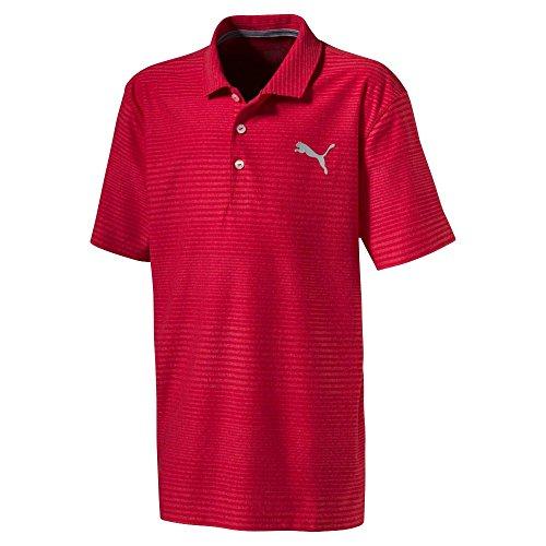 PUMA Jungen 576028Pounce Aston Shirt, klein, High Risk Rot Polo, Jungen, 576028, High Risk Red, xs