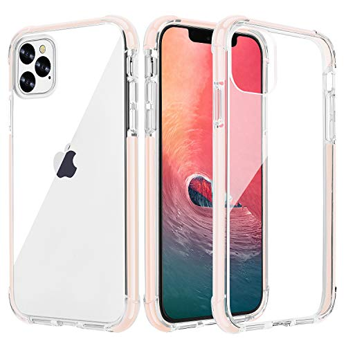 OHNICE iPhone 11 Pro Case Clear Ultra Premium Hybrid Hard PC Back Cover with Soft Crystal Corners Rubber Bumper Shockproof Protective Case for Apple 2019 New iPhone 11 Pro 5.8 inch (Pink)