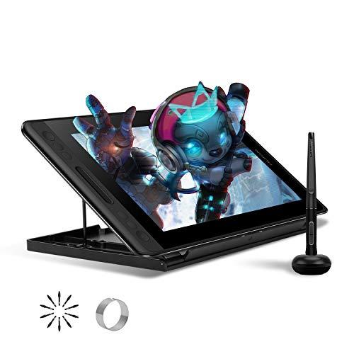 HUION KAMVAS Pro 12, tablettes Graphiques avec écran,Niveaux 8192 Pression Stylo sans Batterie avec Fonction d'Inclinaison avec 4 Touches Express et Barre Tactile