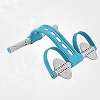 エクササイズバンドレジスタンスバンドラリーシットアップ補助機器ホームフィットネススポーツペダルラリープルロープ抵抗テンションロープジムテンションローププーラー (青い)