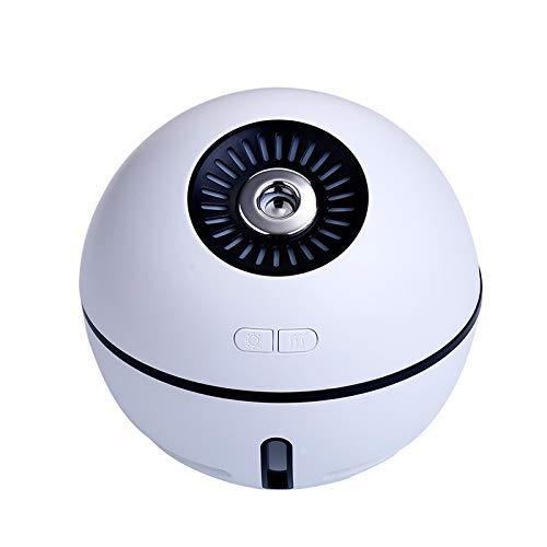 YLCS luftfuktare Jsq luftfuktare för sovrum luftfuktare för sovrum (Bpa-fri), lätt att rengöra, kan ladda telefonen, nattlampa, varar upp till 2 timmar, 300 ml. (Färg: Vit)