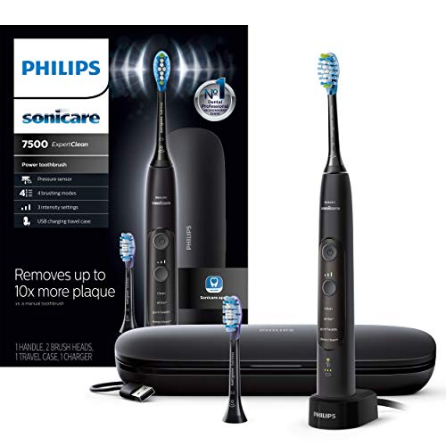 Philips Sonicare HX9690/05 ExpertClean 7500 Bluetooth Rechargeable Electric Toothbrush, Black