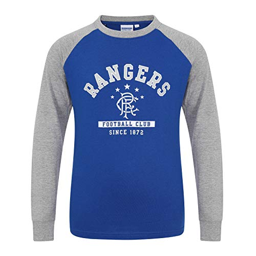 Rangers FC Official Gift Kids Crest Long Sleeve T-Shirt Royal Blue...