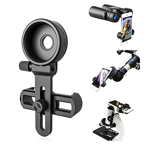 Scope Smart Phone Adapter Mount - Compatibile con Binocolo Monoculare Cannocchiale Telescopio e Microscopio - Per iPhone Sony Samsung Moto Etc