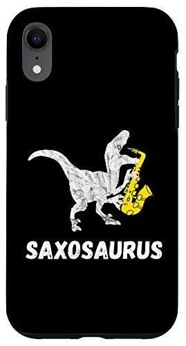 iPhone XR Sax Saurus Funny Saxophone Dinosaur Saxophonist T-Rex Case