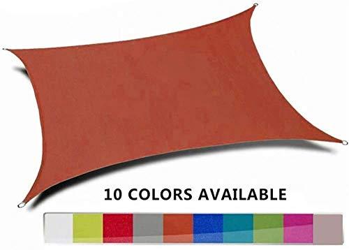 M&M's Toldos Impermeables Exterior Rectangular Toldo Vela De Sombra, Toldo Vela Impermeable, Protección Rayos UV, Toldo Resistente E Lmpermeable, para Patio, Exteriores, Jardín,Brown-4X4m
