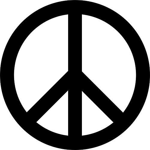 Hansmeier® Wanddeko aus Metall   40 x 40 cm   Wasserfest   Für Außen, Innen, Balkon & Garten   Metalldeko   Deko Industrial   Motiv Peace