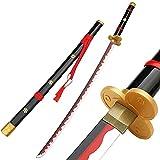 JIANM Demon Slayer Katana, Espada de Bambú Samurai Hecha A Mano Hanzo Katana, Demon Slayer Kimetsu No Yaiba Katana Kimetsu No Yaiba Zenitsu-tanjiro-Shinobu-rengoku- tomioka, 104 cm (púrpura/Negro)