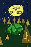 Diario de camping: Diario de viaje para las vacaciones en el camping I Lugar para 29 campings I Tienda de campaña por la noche