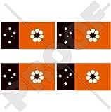 Vinyl-Aufkleber, Motiv: Nord-Territorie-Flagge, Darwin NT, Australien, 50 mm, 4 Stück