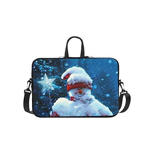 Art Navidad muñeco de Nieve Abeto Ramas Cubiertas de regalias patrón maletin...