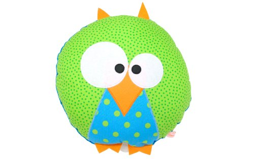 Clemence G. クレモンス・ジェ オルゴール みみずく 緑 ♪眠れ、子どもよ眠れ♪