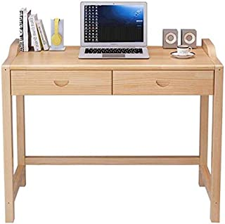 High quality Tables Home Office Furniture Writing Desk Pine Wood, 2 Drawers Computer Desk Multifunctional Vanity (Color : ...