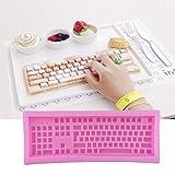 VIOYO Silikonform in Form einer Tastatur, 1 Stück, für Fondant-Kuchen, Fondant-Kuchen, Werkzeug