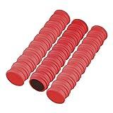 Imanes redondos (50 unidades, 24 mm de diámetro), color rojo