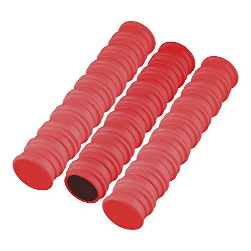 50 Magnete | Farbe wählbar | Ø 24 mm - Rund | Weiß - Grün - Blau - Rot - Schwarz - Gelb | Haftmagnete | Whiteboard - Küche - Kühlschrank - Haushalt - Büro (Rot)