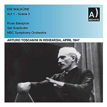 Arturo Toscanini Rehearses Die Walküre Act 1 - Scene 3