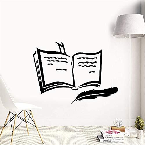 adesivo murale Libro Penna Poesia Prosa Formazione Segnalibro