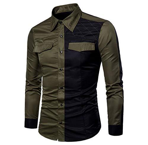 Luckycat Neuer Herren Langarm Oxford Formelle beiläufige Anzüge Slim Fit T-Shirt Hemden Bluse Top Mode 2018