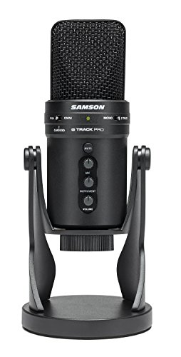 Samson G-Track Pro - Professional USB Microphone with Audio Interface - Black